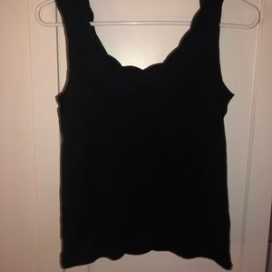 black tank top w/ cute neckline
